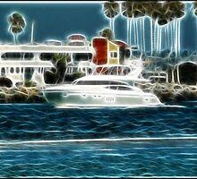 Ocean Beach Jetty: Midnight Cruise by Cherubtree