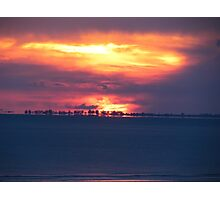 Orange Florida Sunset Photographic Print