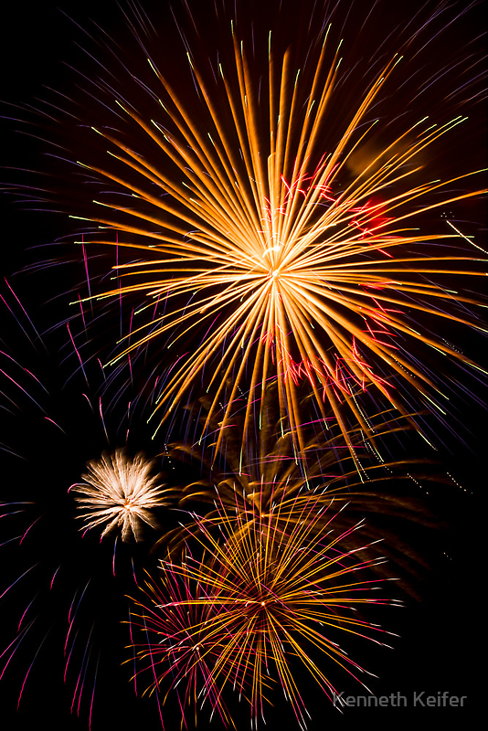 Colorful Pyrotechnics Show by Kenneth Keifer