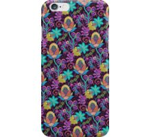 Colorful Abstract Retro Flowers Beads Look Design iPhone Case/Skin