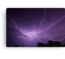 Fantastic Lightning Display Canvas Print