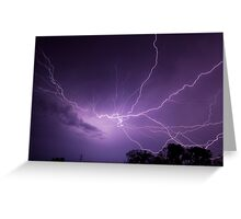 Fantastic Lightning Display Greeting Card
