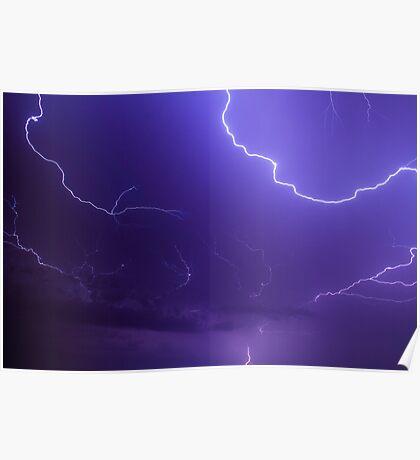 Brilliant and Vivid Bolts of Lightning Poster