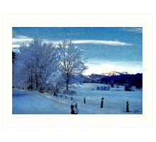 Winter Afternoon, Austria Art Print