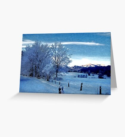 Winter Afternoon, Austria Greeting Card