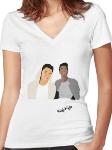 Rizzle Kicks Vector Women's Fitted V-Neck T-Shirt