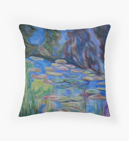 Reflections of Monet Throw Pillow