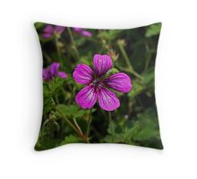 Purple Wildness. Throw Pillow