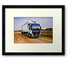 Heavy Goods in Transit Framed Print
