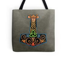 Thor's Hammer On Grey Tote Bag