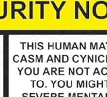 Security Notice Sticker