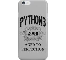 Black on Grey Vintage Design for Python 3 Advocates iPhone Case/Skin
