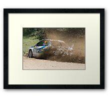 I'm Outta Here! WRC Rally Australia, 2011 Framed Print