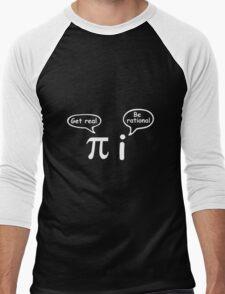 Get Real Be Rational Men's Baseball ¾ T-Shirt