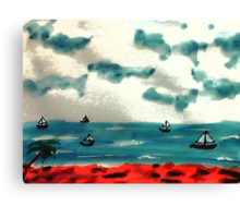 A day to go sailing, watercolor Canvas Print