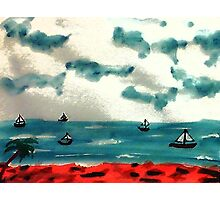 A day to go sailing, watercolor Photographic Print