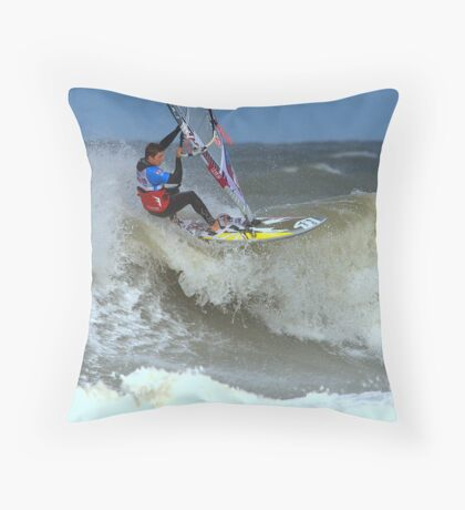 Competing for the World Cup Throw Pillow
