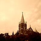 Church Crosses in Sepia by Laura-Lise Wong