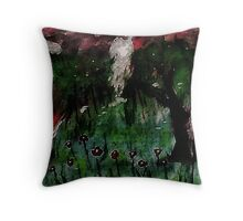 Weeping willows in the flood zone, but romantic, watercolor Throw Pillow