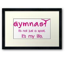 Gynastics, Sports, Gymnast Framed Print