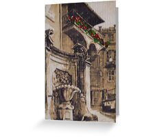 BALCONY IN ROME Greeting Card