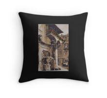 BALCONY IN ROME Throw Pillow