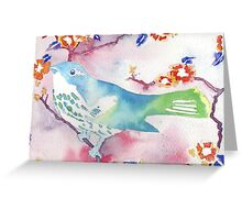 Song - bird and blossom Greeting Card