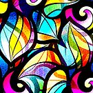 Colorful Stained Glas Like Abstract Swirls by artonwear