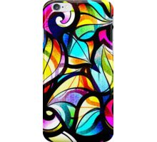 Colorful Stained Glas Like Abstract Swirls iPhone Case/Skin