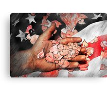 The Hearts of a Country Canvas Print