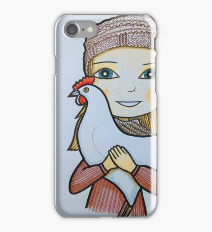 Girls & birds series iPhone Case/Skin
