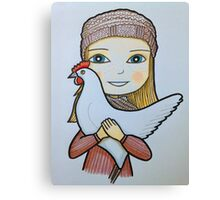 Girls & birds series Canvas Print