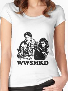 What Would Scarecrow and Mrs. King Do? Women's Fitted Scoop T-Shirt