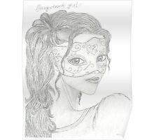 masquerade girl Poster