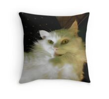so, what are you saying about me? Throw Pillow
