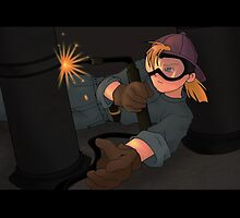 Girl Welding by gadget42