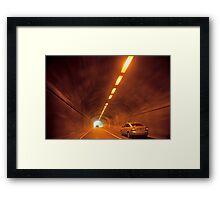 Thru The Tunnel Framed Print