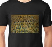 Abstract Golden Blocks Mosaic Unisex T-Shirt