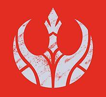 Rebels Segmented Logo (Grey on Red) by JoshBeck
