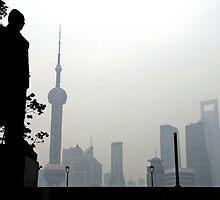 Mao overlooking Pudong, Shanghai by DaveLambert