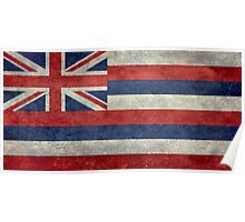 State Flag of Hawaii,  retro style vintage 1-2 scale version Poster