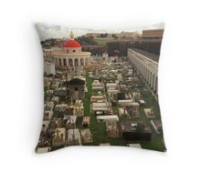 Rest In Peace - The Old San Juan Cemetery Throw Pillow