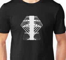 white grid Unisex T-Shirt
