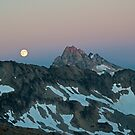 Moon over Goode Mtn - North Cascades N. P. by Mark Heller