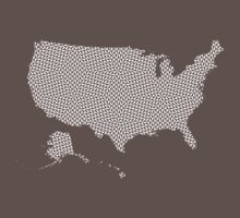 United States of America abstract geometric pattern map One Piece - Short Sleeve