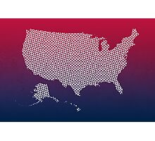 United States of America abstract geometric pattern map Photographic Print
