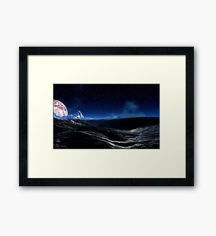 Moonlit Hills Framed Print