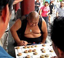Chess player, Temple of Heaven, Beijing by DaveLambert