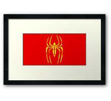 Iron Spider-Man Segmented Logo Framed Print