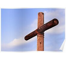 Old Rugged Cross Side View Poster